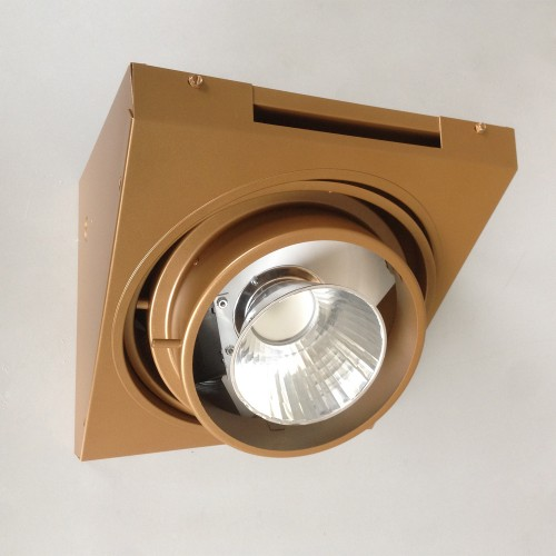 The LED retrofit module snaps into the mounting clips designed to hold the incandescent PAR lamp.