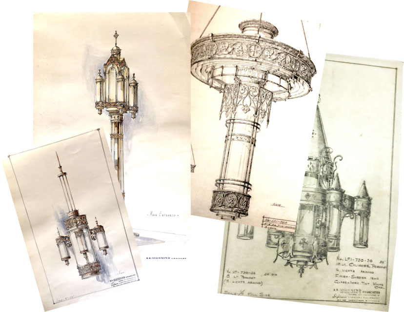 Drawings of light fixtures