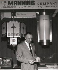 R.A. Manning at lighting show